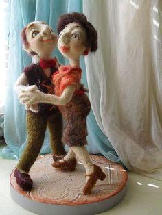 """Коллекционные куклы ручной работы. Ярмарка Мастеров - ручная работа Кукольная композиция  """"Школа бальных танцев"""".. Handmade.   Doll's song """"School of ballroom dancing."""""""