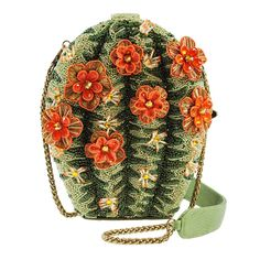 Mary Frances Cactus Flower Handbag Beaded Bag New. We've captured the beauty of the desert in this stunningly beaded cactus bag featuring hand crafted vibrant orange blossoms. Unique Handbags, Unique Bags, Purses And Handbags, Unique Purses, Leather Handbags, Mary Frances Purses, Mary Frances Handbags, Beaded Purses, Beaded Bags