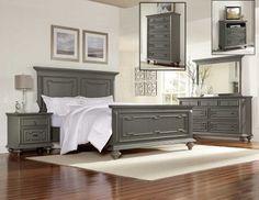 Marceline 1866 Bedroom in Grey by Homelegance w/Options