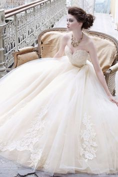 lazaro buttercup wedding dress fall 2012 tulle ball gown sweetheart neck lace silk ribbon belt 3251