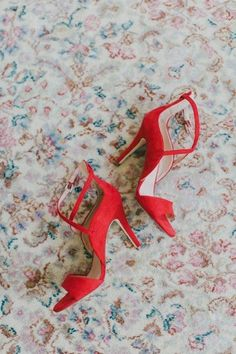 Red wedding shoes fo