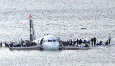 NYC.  January 15, 2009, Passengers disembark US Airways Flight 1549 in the Hudson River.