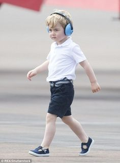 Prince George skipped and ran across the runway at the show, relishing an opportunity most...