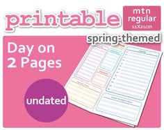 Hey, I found this really awesome Etsy listing at https://www.etsy.com/listing/231937074/spring-themed-day-on-2-pages-do2p-for