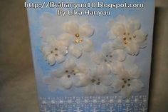 Lika Hanyuu - Artesanato -Papel Vegetal XD: [Cartão] Flores Brancas 2 - Papel Vegetal