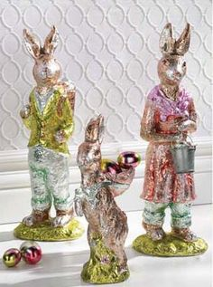 Faux Chocolate Easter Bunnies  Foil Bunny Rabbits