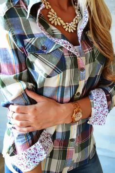 Floral and plaid