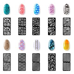 Mudder Nail Vinyls Stencil Stickers Set 24 Sheets 72 Diffe Designs Cute Easy Art