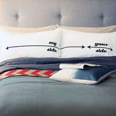 'Personalised My Side Your Side' Pillowcases - engagement gifts