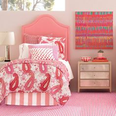 Alex Coral Paneled Bed Skirt