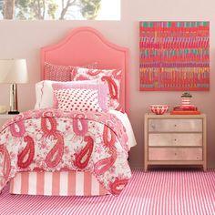 Annie Selke Home Westport Upholstered Panel Headboard Panel Headboard, Panel Bed, Paisley Quilt, Coral, Natural Bedding, Luxury Bedding Sets, Modern Bedding, Upholstered Beds, Headboards For Beds