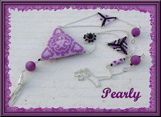 triangolino recto by pearly beads, via Flickr
