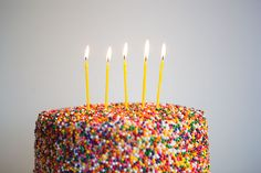Sprinkle Cake DIY- Step by Step Instructions by Kelsey Nixon on OHD
