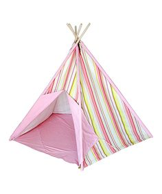 Look at this Pink Stripe Tepee Tent on #zulily today!