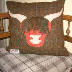 Hand made in Scotland Harris Tweed cushion