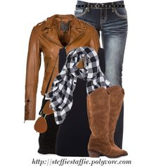 """Camel & Buffalo Checks"" by steffiestaffie on Polyvore"