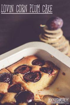 lovin corn plum cake ... Maismehl Kuchen mit Pflaumen