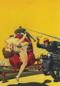 cover art by frank r. paul, for planet of the knob-heads by stanton a. coblentz
