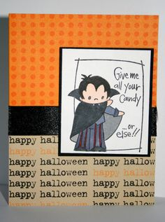 Adorable handmade Halloween card by rbowen on Etsy, $2.50