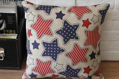 Eco-friendly Cushion Case, Cushion Cover, Stars Pillow Case, Cotton Throw Pillow Cover. $19.00, via Etsy.