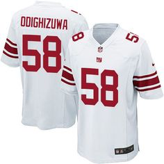 cc148c16f Nike Game Owa Odighizuwa White Men s Jersey - New York Giants  58 NFL Road  New
