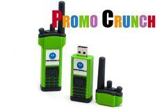 Promo Crunch. Home to the World's Best Custom Designed USB Flash Drives - Walkie Talkie #usb #custom #marketing #branding #pvc #flashdrive #walkietalkie #motorola #technology