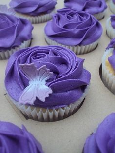 Purple and butterflies! It's like me if I was a cupcake!