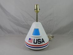 Vintage Little Tikes Outer Space Capsule Apollo Moon USA Portable Lamp - RARE Issue Number J-7615 by CaymanHillDesigns on Etsy