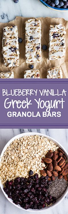 Blueberry Vanilla Greek Yogurt Granola Bars | halfbakedharvest.com @hbharvest