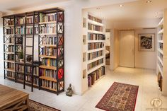 I want these books storage Home Library Design, House Design, Book Storage, Entrance, Bookcase, Shelves, Interior Design, Room, Furniture