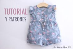 couture enfants - Laine-et-Chiffons Sewing For Kids, Baby Sewing, Baby Girl Romper, Baby Dress, Fashion Kids, Womens Fashion, Short Bebe, Short Fille, Baby Kind