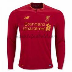 Billige Fodboldtrøjer Liverpool 2016-17 Langærmet Hjemmebanetrøje