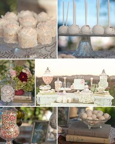 Pastel wedding sweets table - Photo by Mariela Campbell Photography