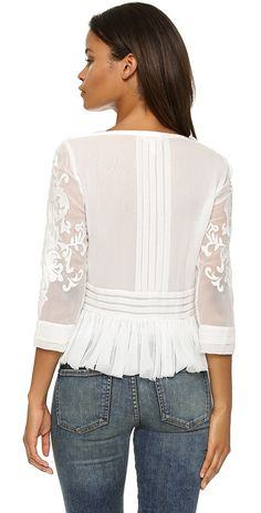 Rebecca Taylor Pop Paisley Top | SHOPBOP