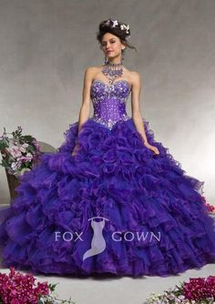 PROM DRESS PUFFFY | Purple puffy quinceanera ball gown formal prom ...