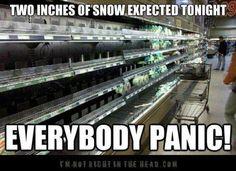 snow down south!