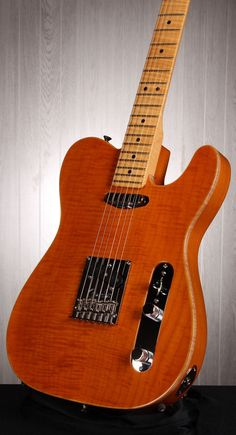 FENDER Select Carved Maple Top Telecaster Electric Guitar - Amber | Small White Mouse