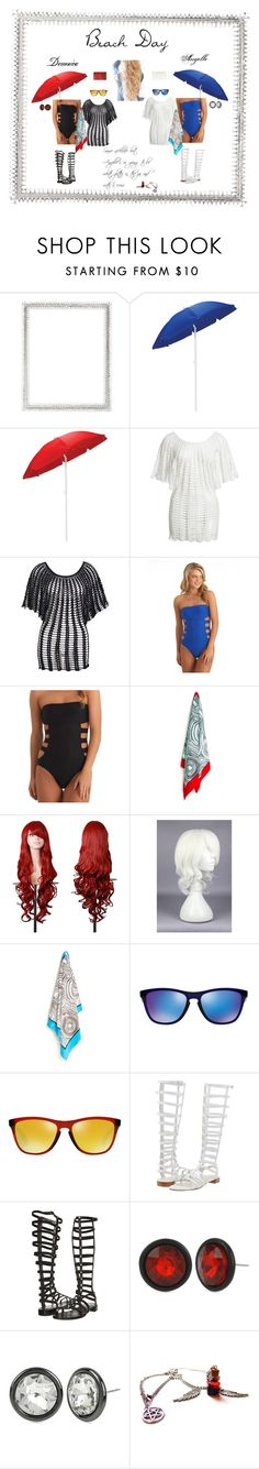 """""""Beach day"""" by hoodie-326 on Polyvore featuring Lane Crawford, Picnic Time, Beauty & The Beach, Ella Moss, Jonathan Adler, Oakley, Stuart Weitzman and Kenneth Cole"""