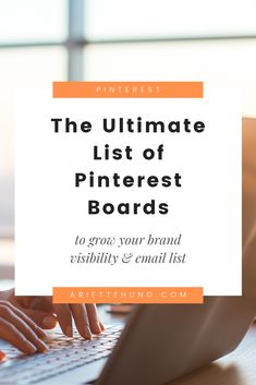 You can use these boards to grow your brand and biz today! Pinterest Board Names, Promotion Strategy, Advertising And Promotion, Work From Home Tips, Group Boards, Affiliate Marketing, Email Marketing, Online Jobs, Pinterest Marketing