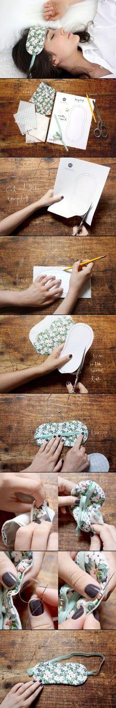 DIY Floral Patterned Sleeping Mask | DIY & Crafts Tutorials
