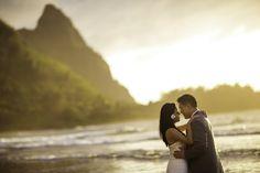 tropical destination wedding in Princeville, Kaua'i, Hawai'i, photos by Brett Butterstein Photography   via junebugweddings.com