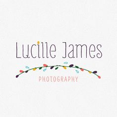 Photography Logo Template by thumbprintinkdesigns on Etsy