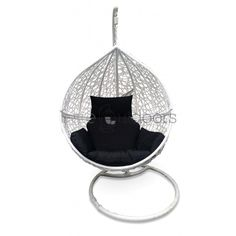 Genial Outdoor Hanging Ball Chair   White U0026 Black Hanging Egg Chair, Ball Chair,  Wicker