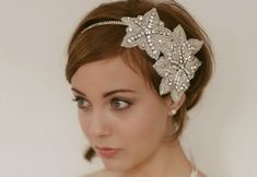 chic bridal headbands unique wedding hair accessories 1920s inspired «I like this one in particular.
