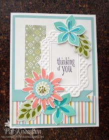 Stampin' with my Furbabies: Pastel Flower Patch