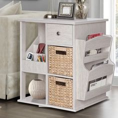 Albia End Table with Storage & Reviews | Birch Lane