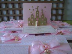 Convite Infantil tema Princesa produzido por Mônica Guedes