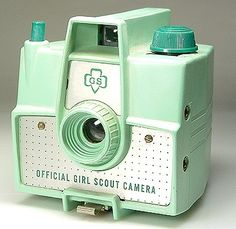 Great cool mint colored Girl Scout camera. Mine was brown, since it was a brownie. I like this one alot! Get them together and get a yummy Thin Mint cookie!