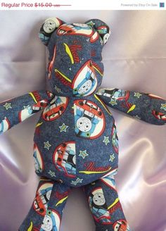 SALE Thomas the Train Bear by RADBears on Etsy $11.25