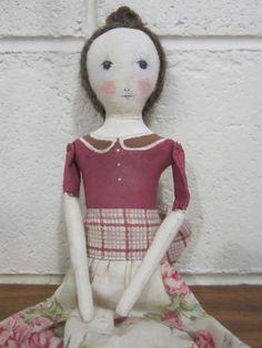 Folk Art Cloth Doll, OOAK